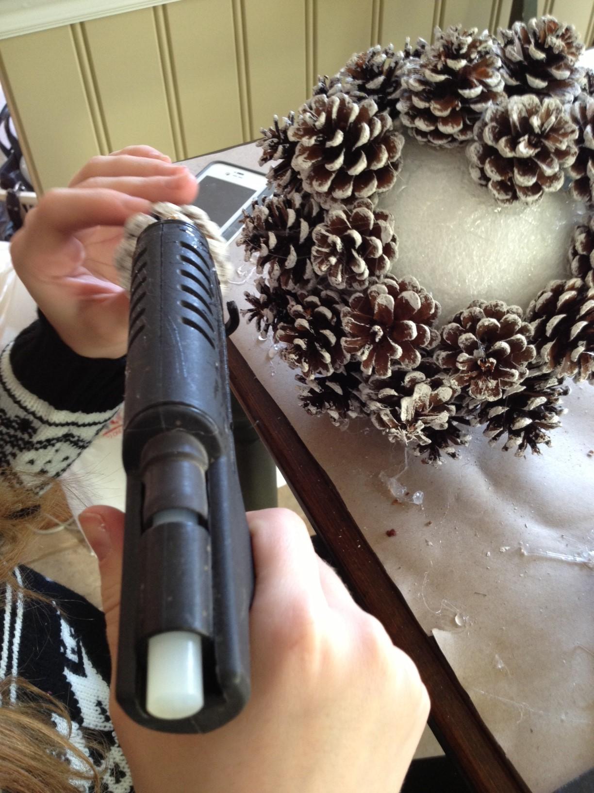 pine cone gluing 2